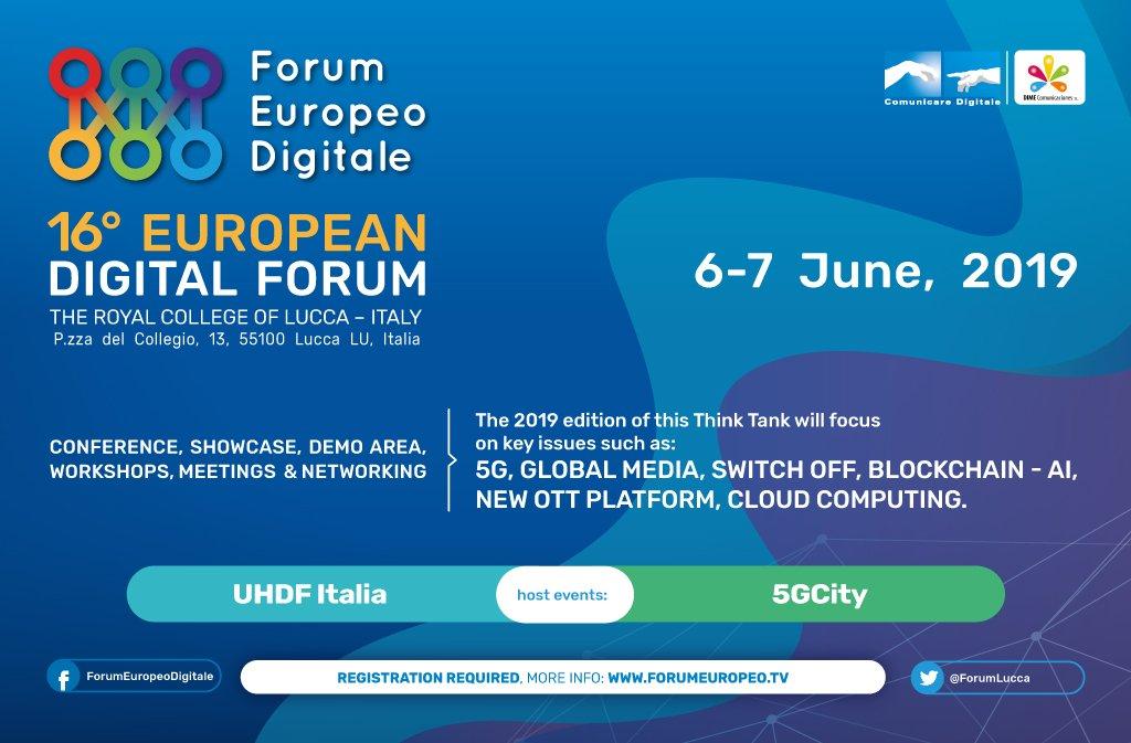 16 Forum Europeo Digitale, a Lucca i riflettori sul futuro dei media