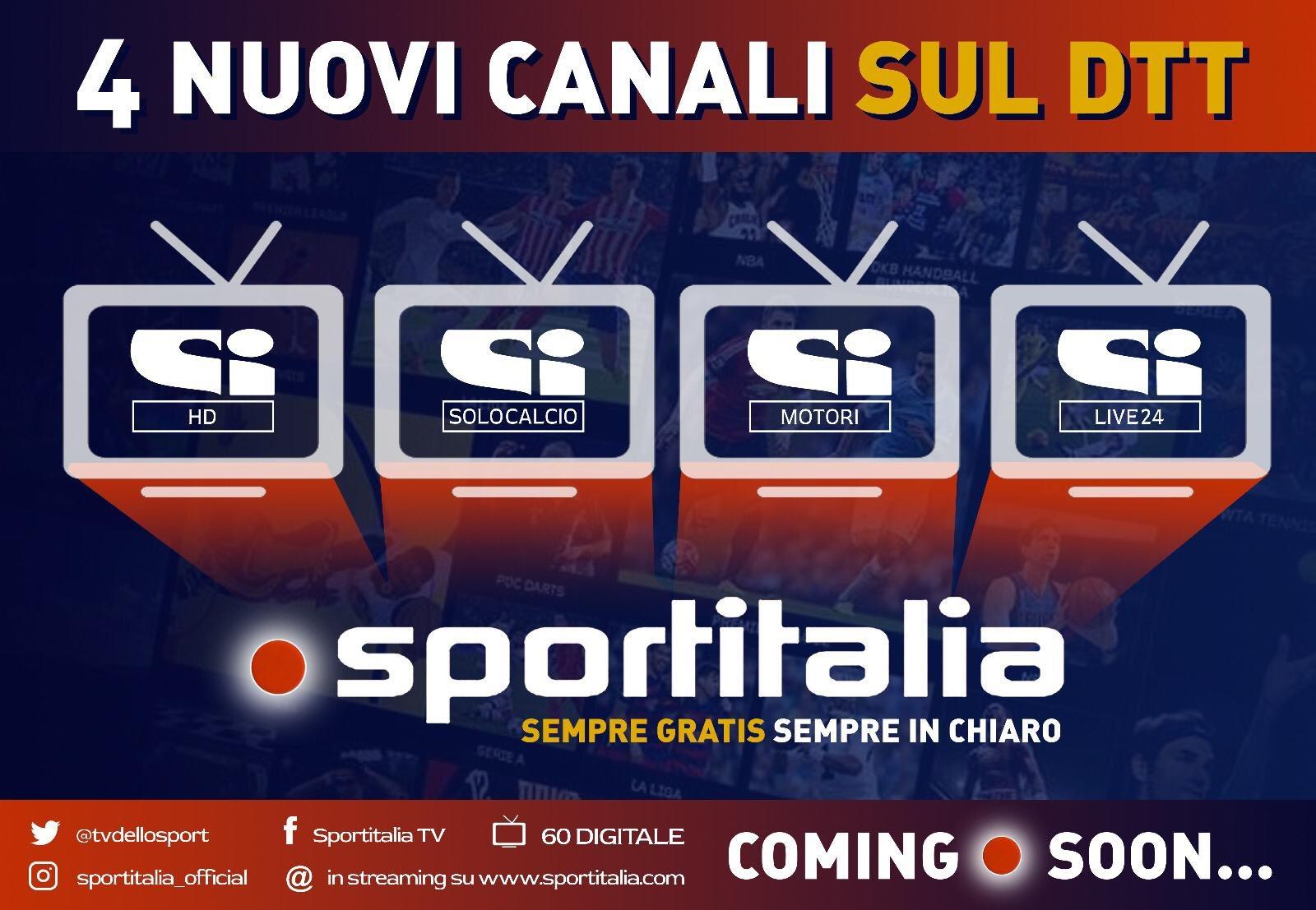 A Luglio nasce SI Smart con 4 canali free di Sportitalia via HbbTV