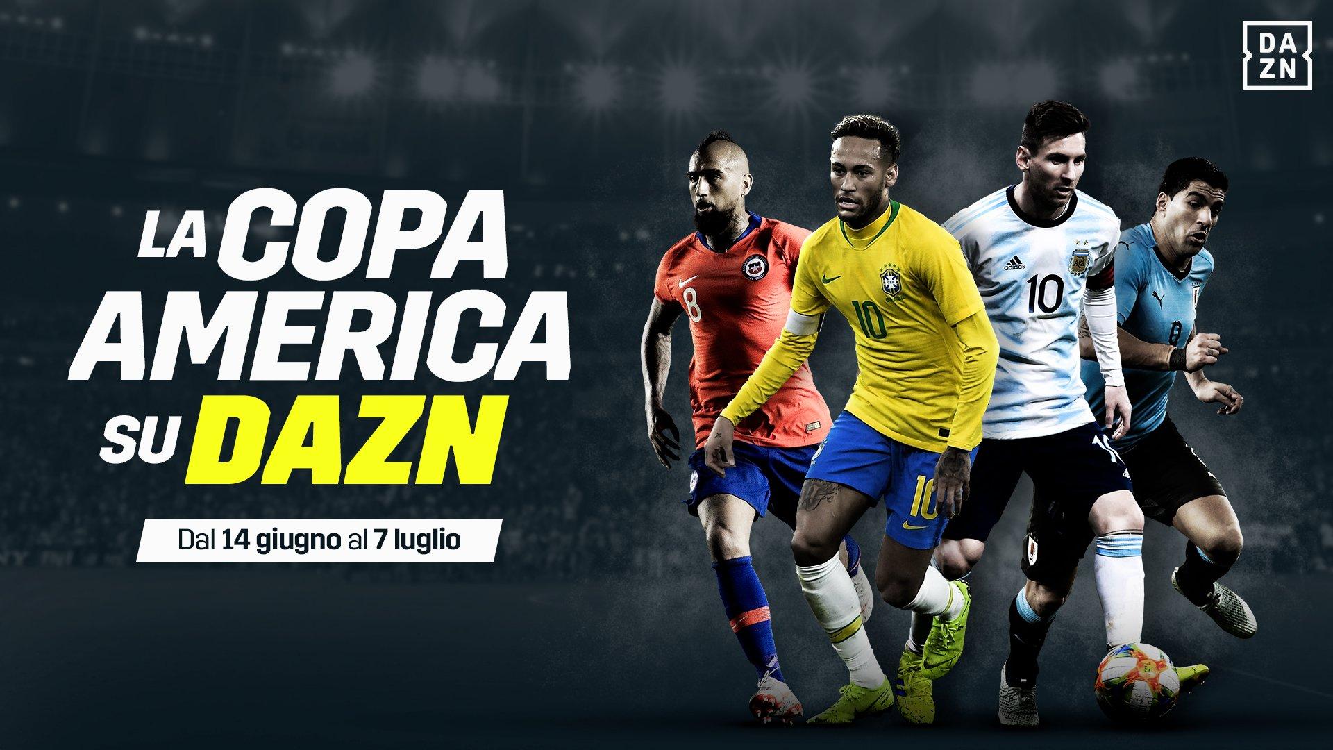 DAZN ufficializza Coppa America 2019 (dal 14 Giugno al 7 Luglio)