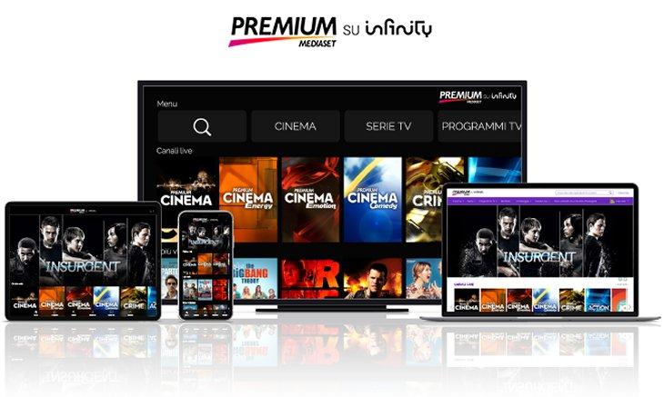 Canali Premium Mediaset visibili solo su Infinity e Sky (con satellite o DTT)