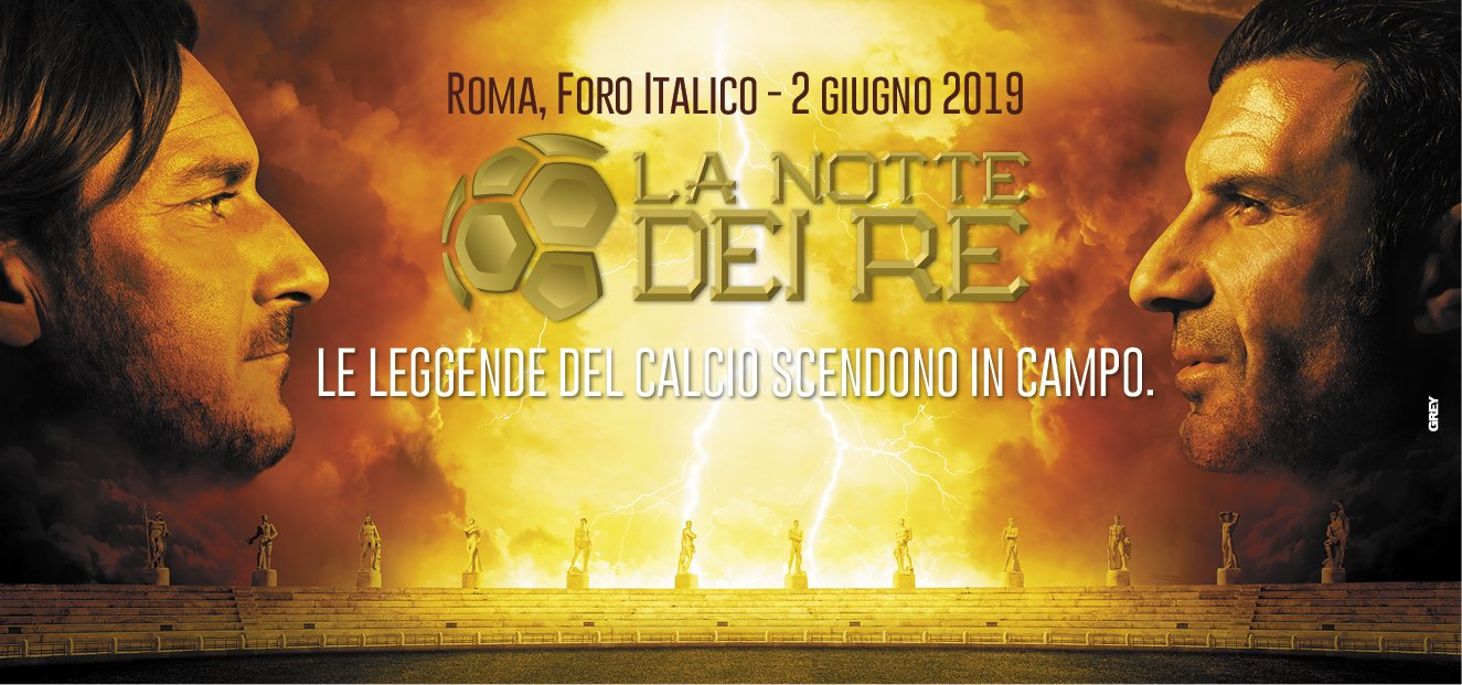 La Notte dei Re - Totti e Figo si sfidano in diretta su Sky Sport e TV8