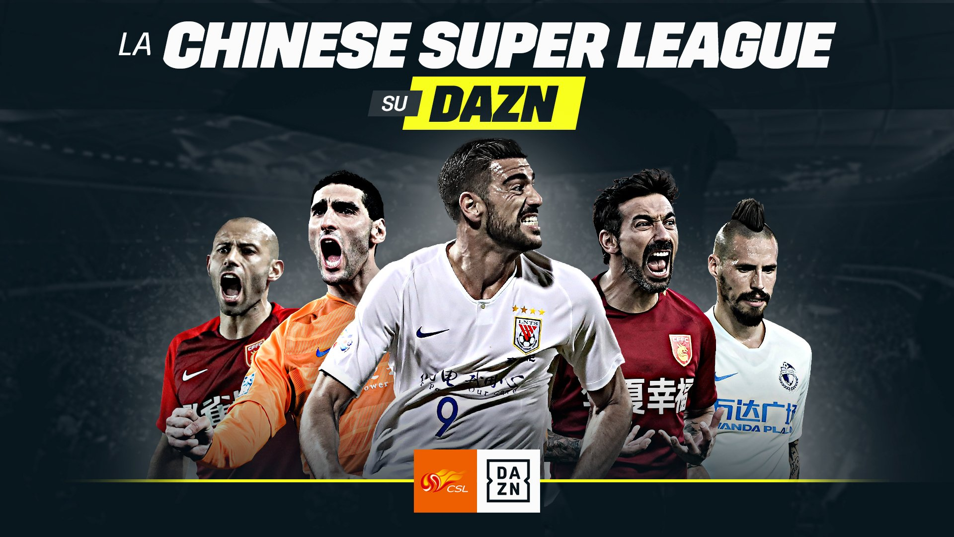 DAZN amplia offerta calcio internazionale con la Chinese Super League
