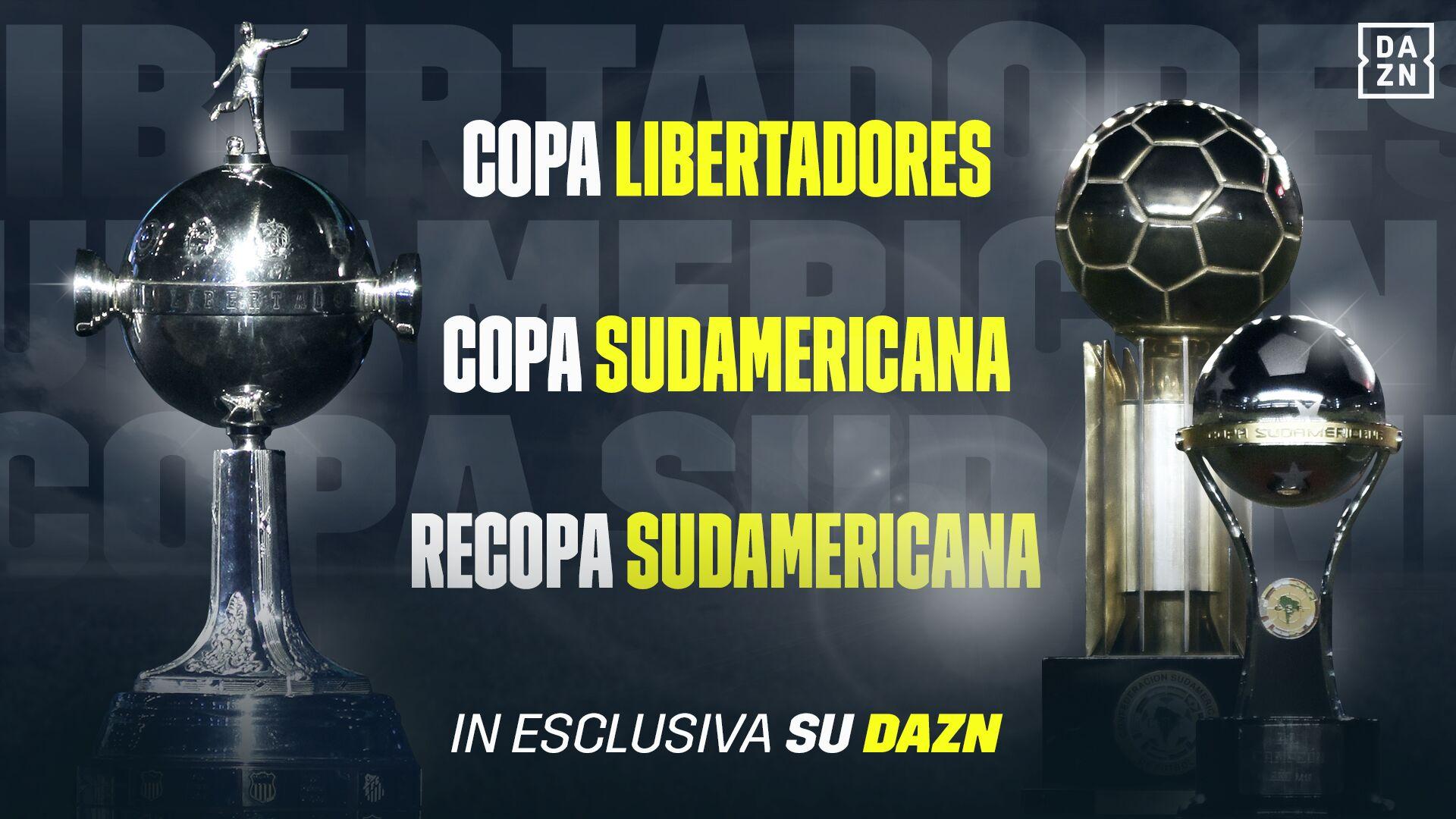 DAZN rinnova i diritti per Libertadores, Sudamericana e Recopa fino al 2022.
