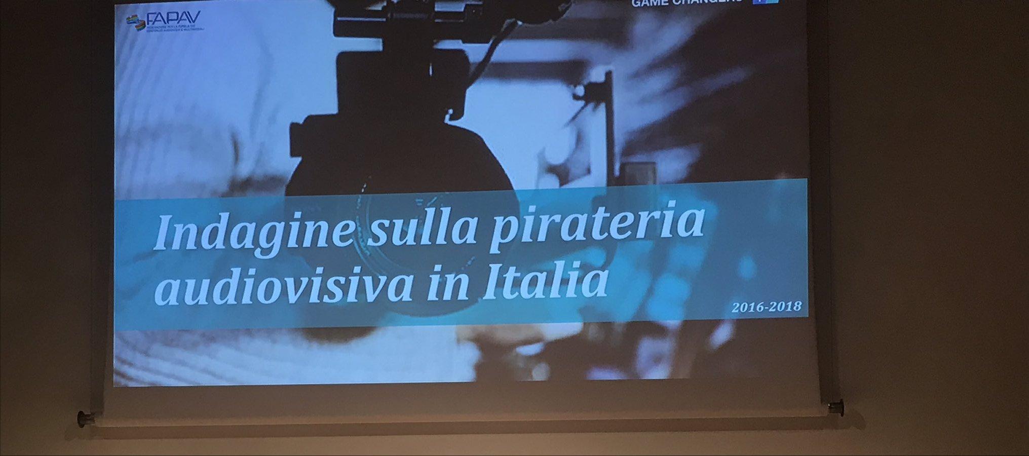 Pirateria audiovisiva in Italia, presentata la nuova ricerca FAPAV - Ipsos
