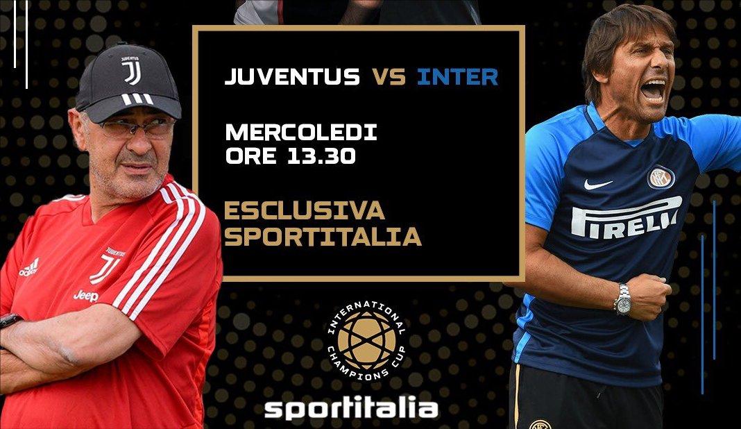 ICC 2019, Juventus - Inter in diretta su Sportitalia (e in HD con SI Smart)