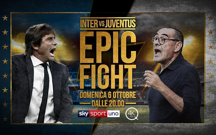 Inter-Juventus, su Sky Q contenuti speciali in vista del Derby d'Italia