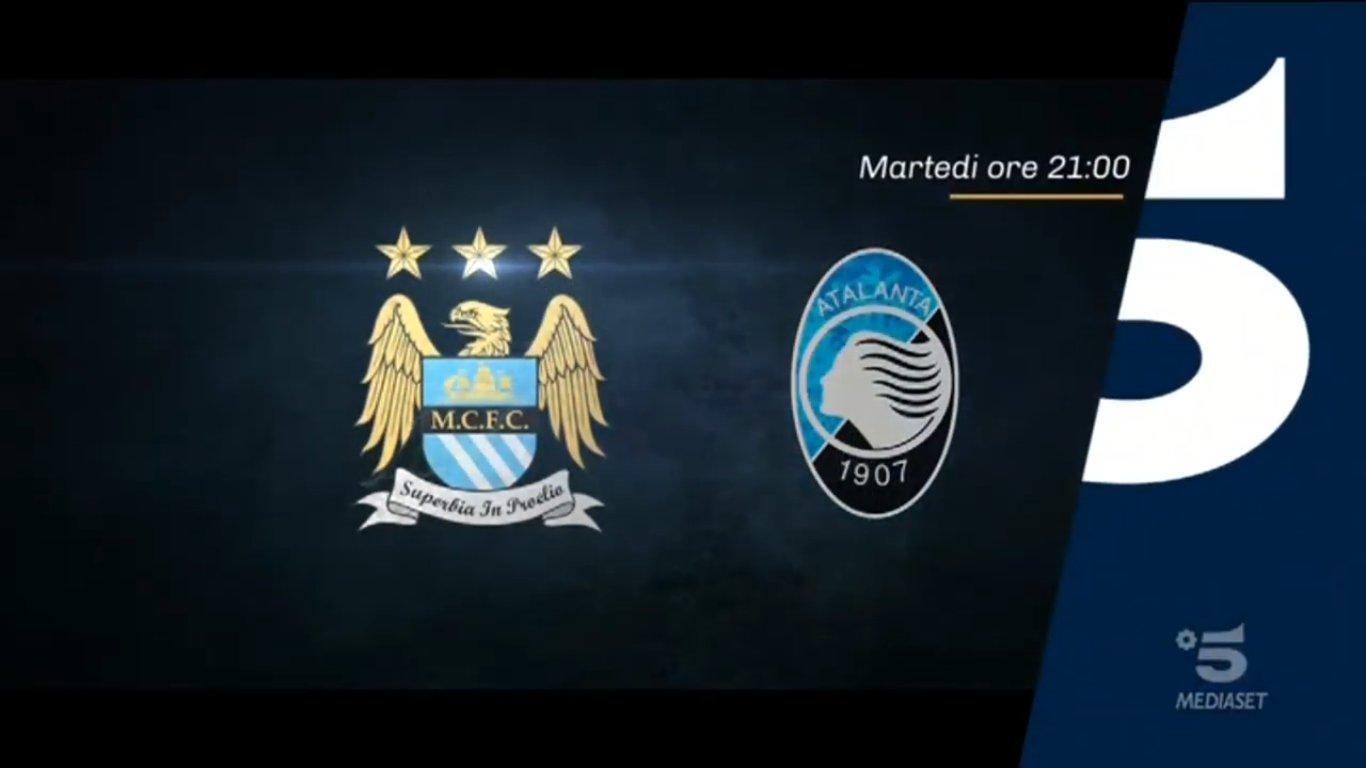 Champions, Manchester City - Atalanta stasera in chiaro su Canale 5