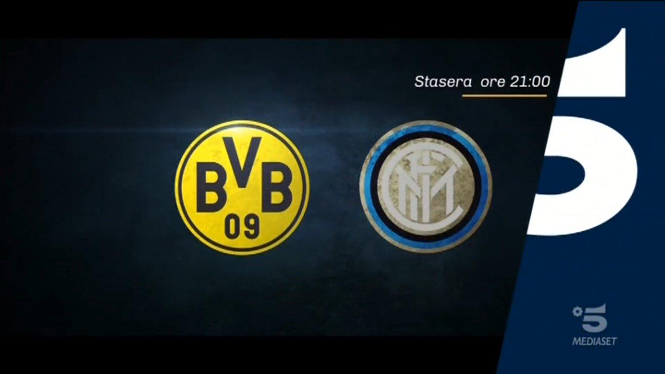 Champions, Borussia Dortmund - Inter stasera in chiaro su Canale 5.