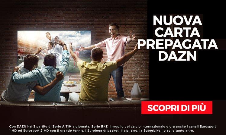 Offerta Black Friday DAZN 6 mesi a 39,99€ nei punti vendita UniEuro