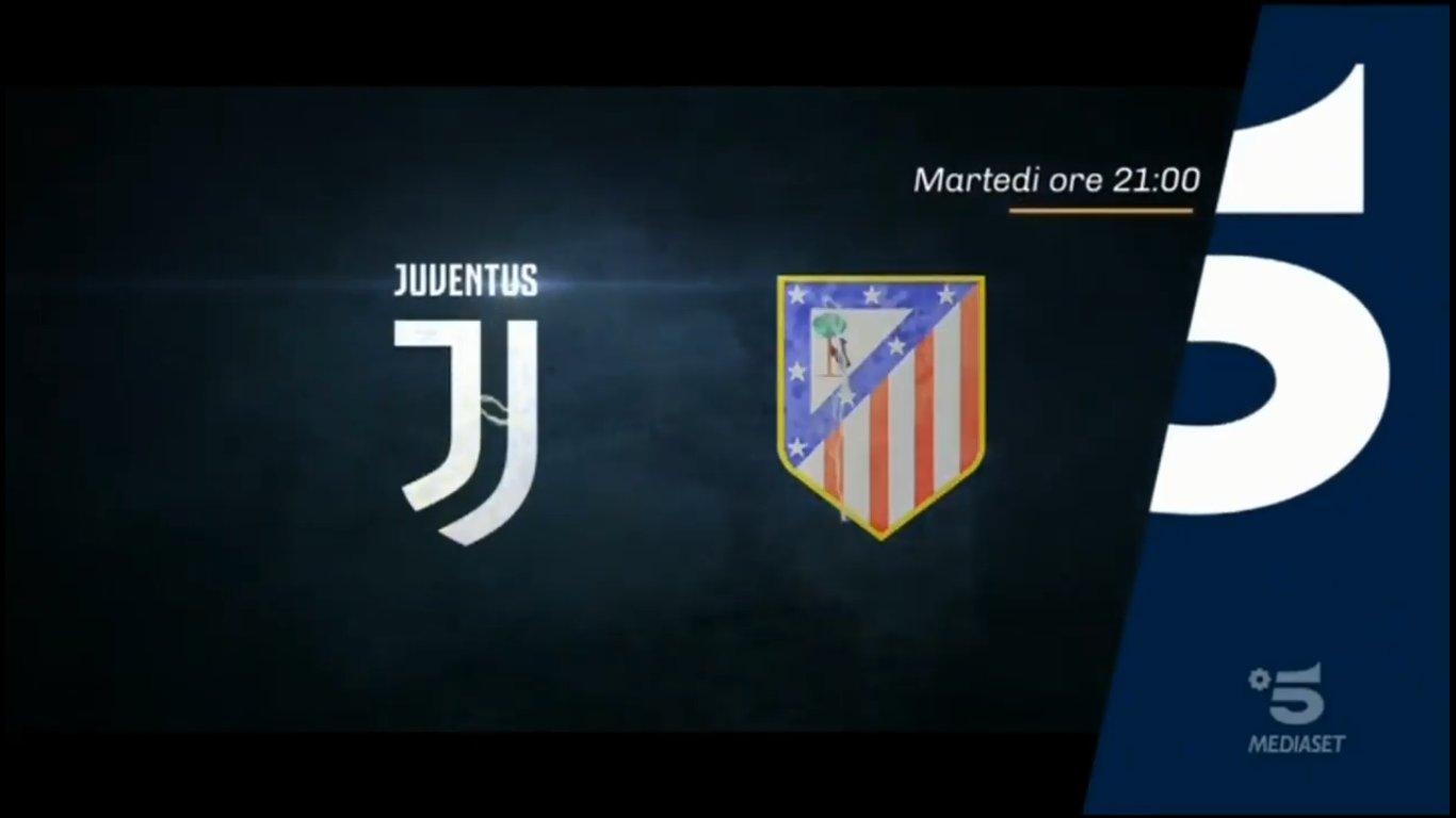 Champions, Juventus - Atletico Madrid stasera in chiaro su Canale 5
