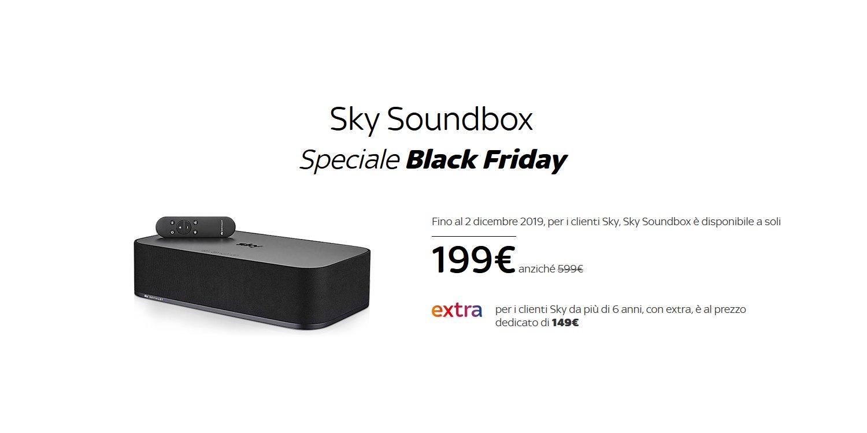 Sky Soundbox, prezzi super scontati in occasione del Black Friday!