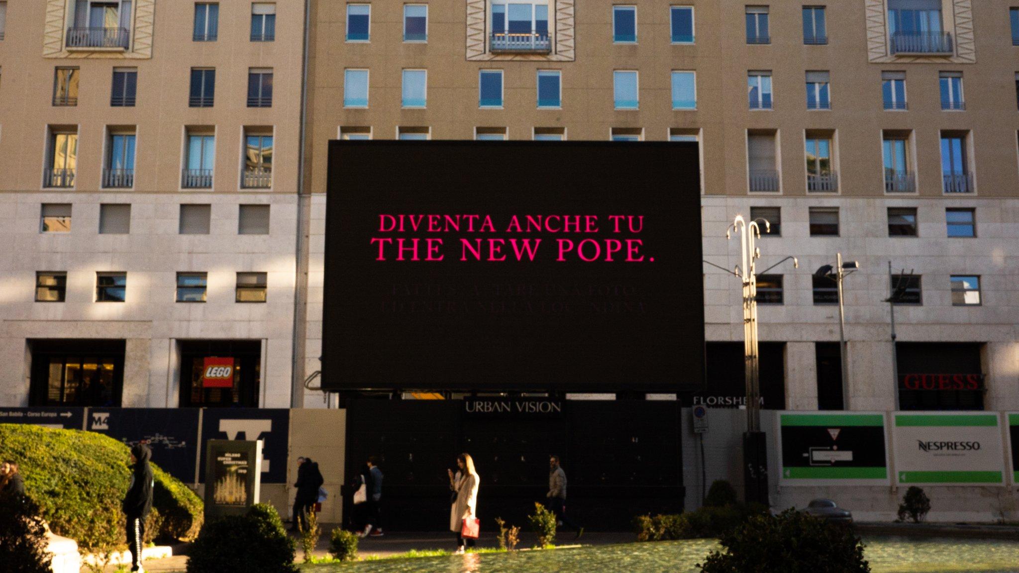 The New Pope, a Milano la speciale activation in Piazza San Babila