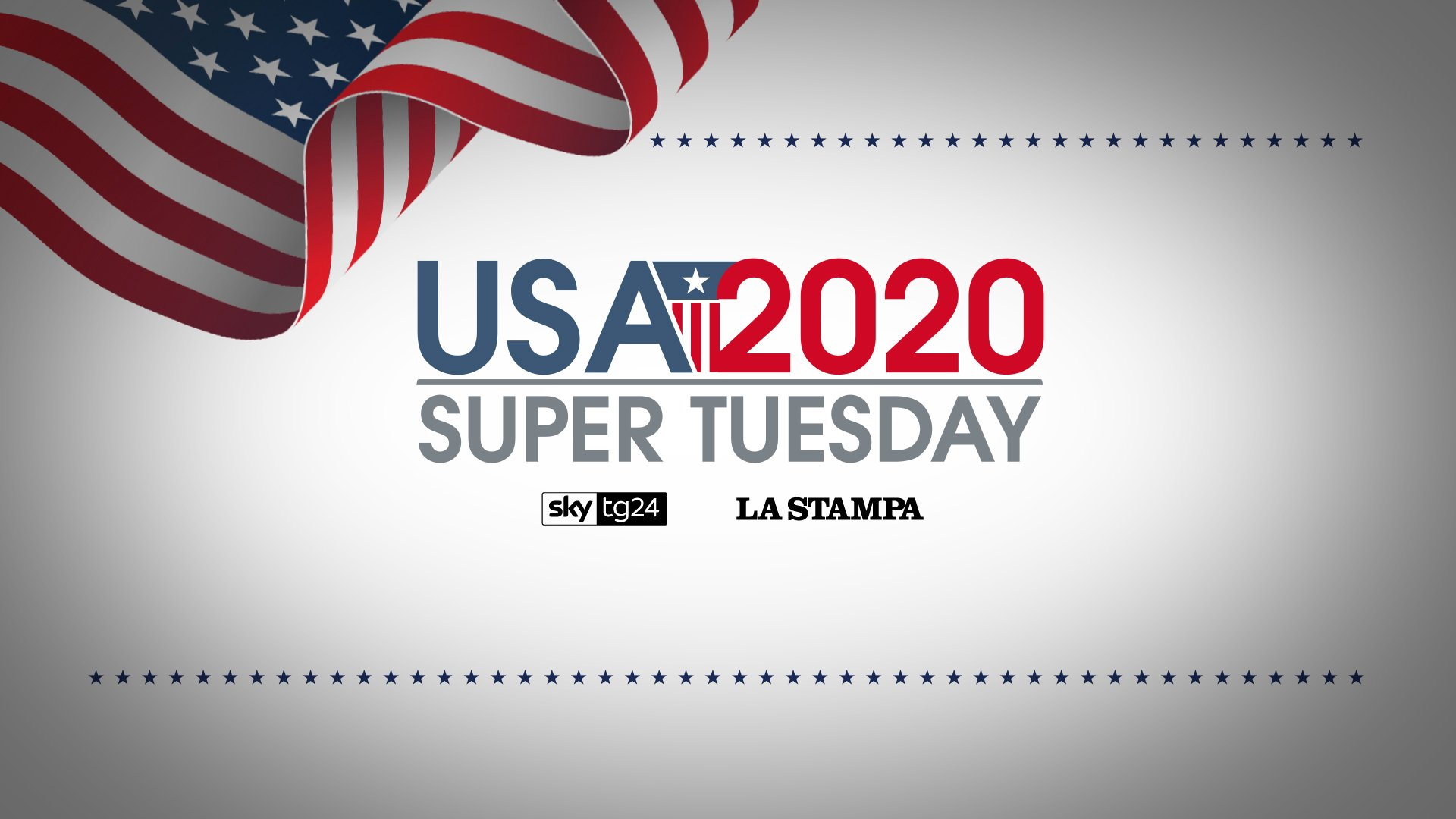 Sky TG24 e La Stampa per raccontare il Super Tuesday USA 2020