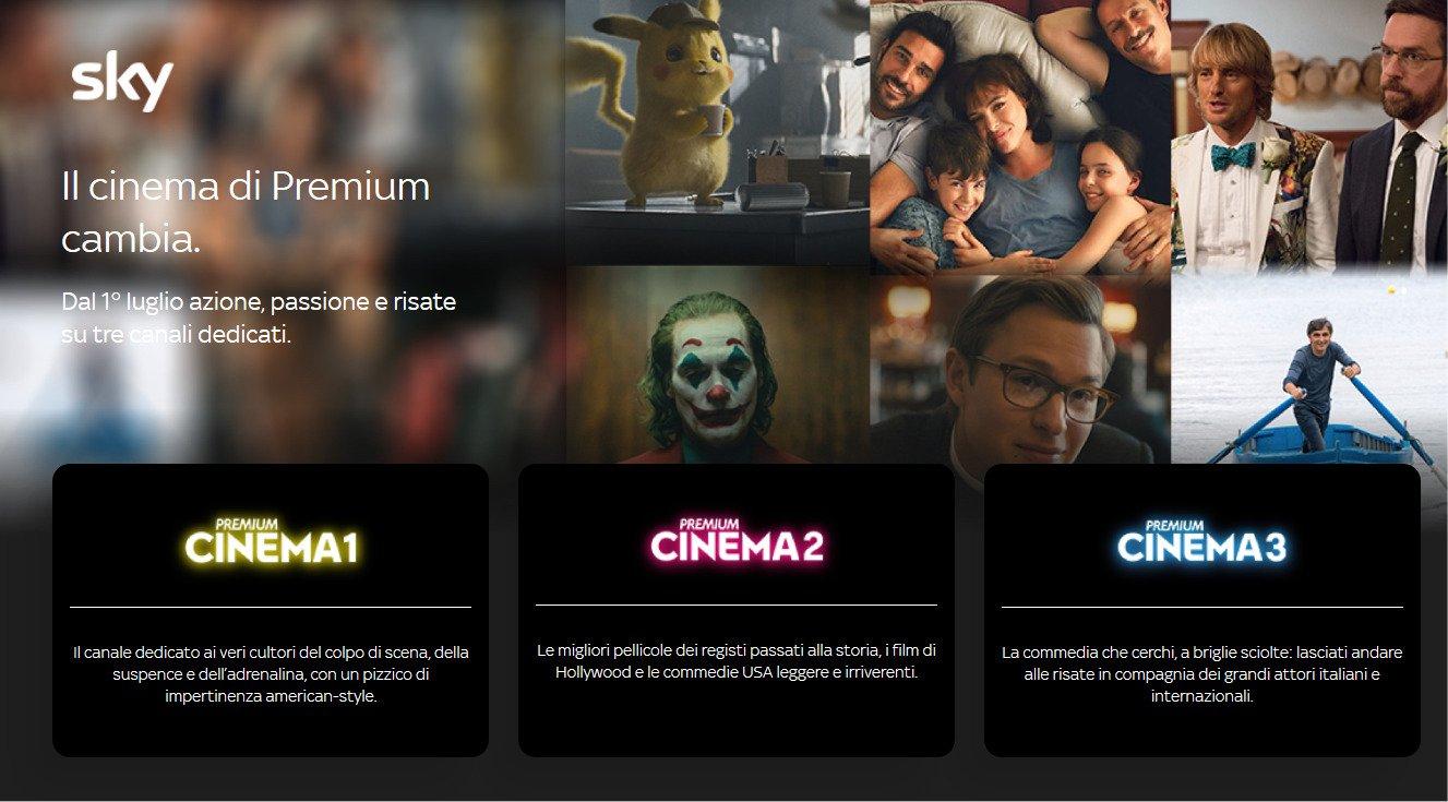 Premium Cinema si rinnova, da Luglio tre canali per #ilcinemaperfetto