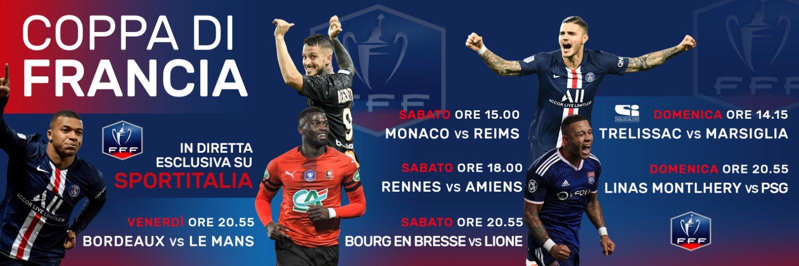 La 103esima edizione della Coppa di Francia nel weekend su Sportitalia