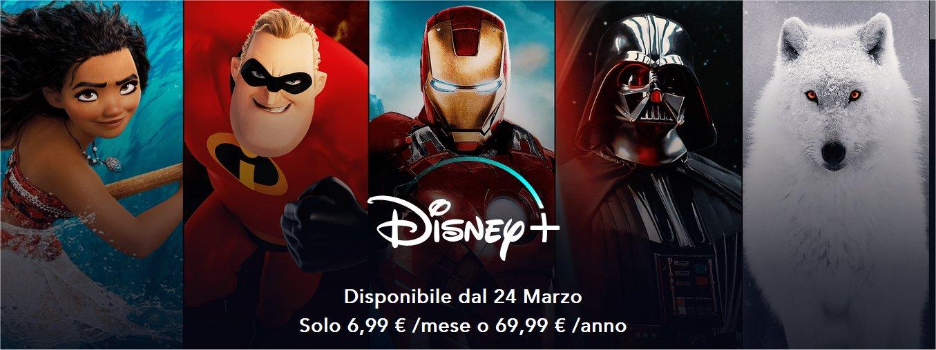 Disney+ anticipa la data di lancio, in streaming dal 24 marzo in Italia