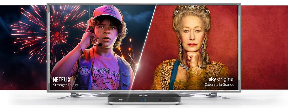 Sky e Netflix con «Intrattenimento Plus» anche per i nuovi clienti Sky