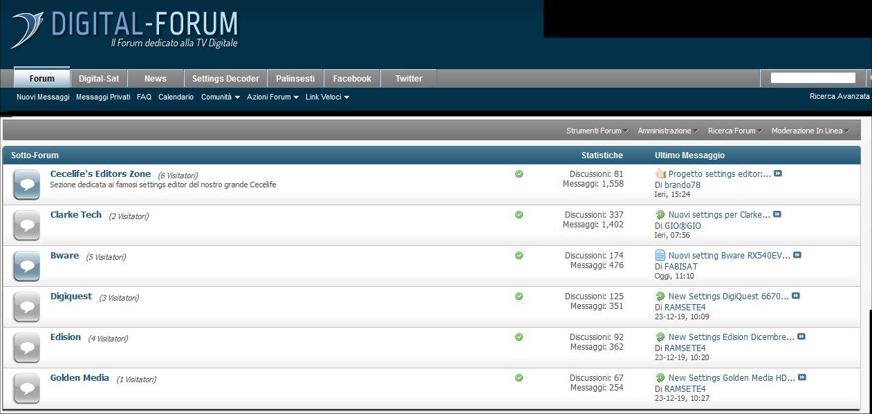 Giorgio Settings Team, su Digital-Forum.it tutto ciò che serve ai vostri decoder