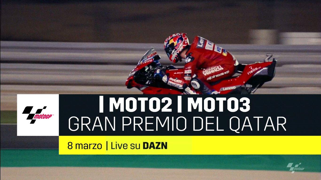 Motomondiale, al via su DAZN con il Gran Premio del Qatar Moto2 e Moto3