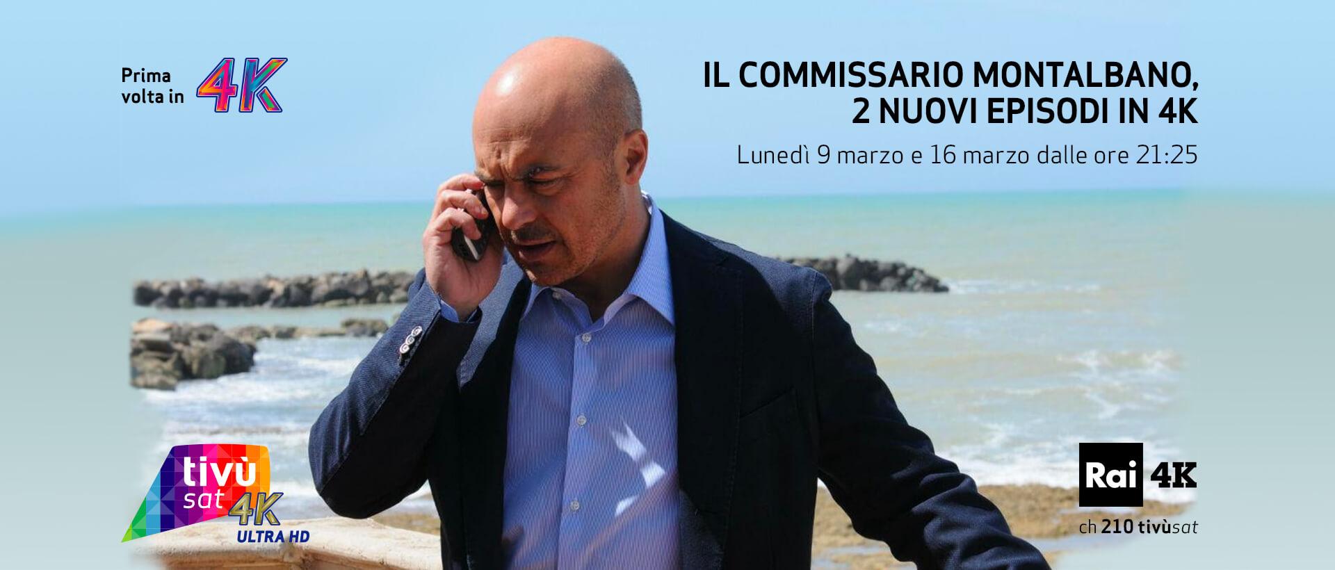 Il Commissario Montalbano, due nuovi episodi su Rai 1 (anche in 4K su Tivùsat)