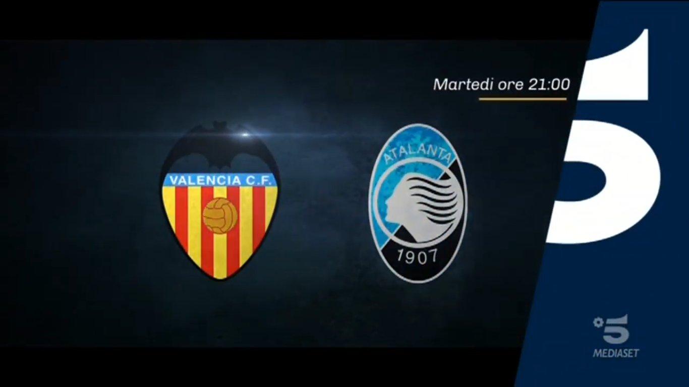 Champions, Valencia - Atalanta stasera in chiaro su Canale 5