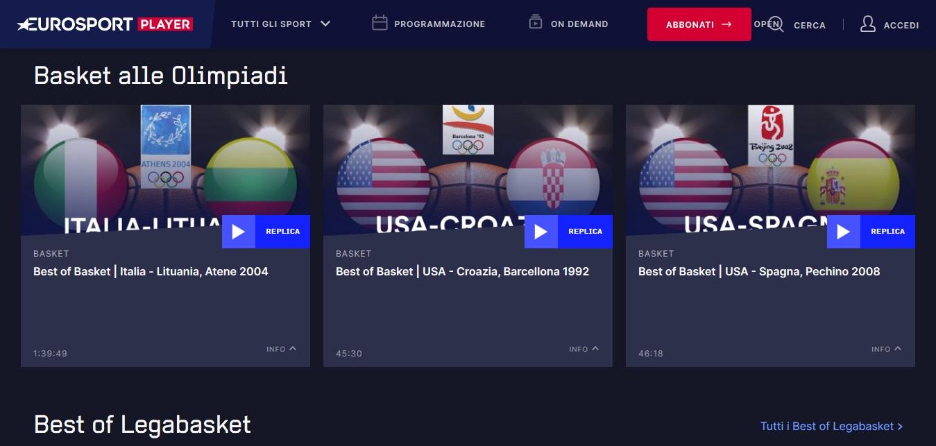 Eurosport Player, on demand i grandi eventi e le ultime imprese dello sport