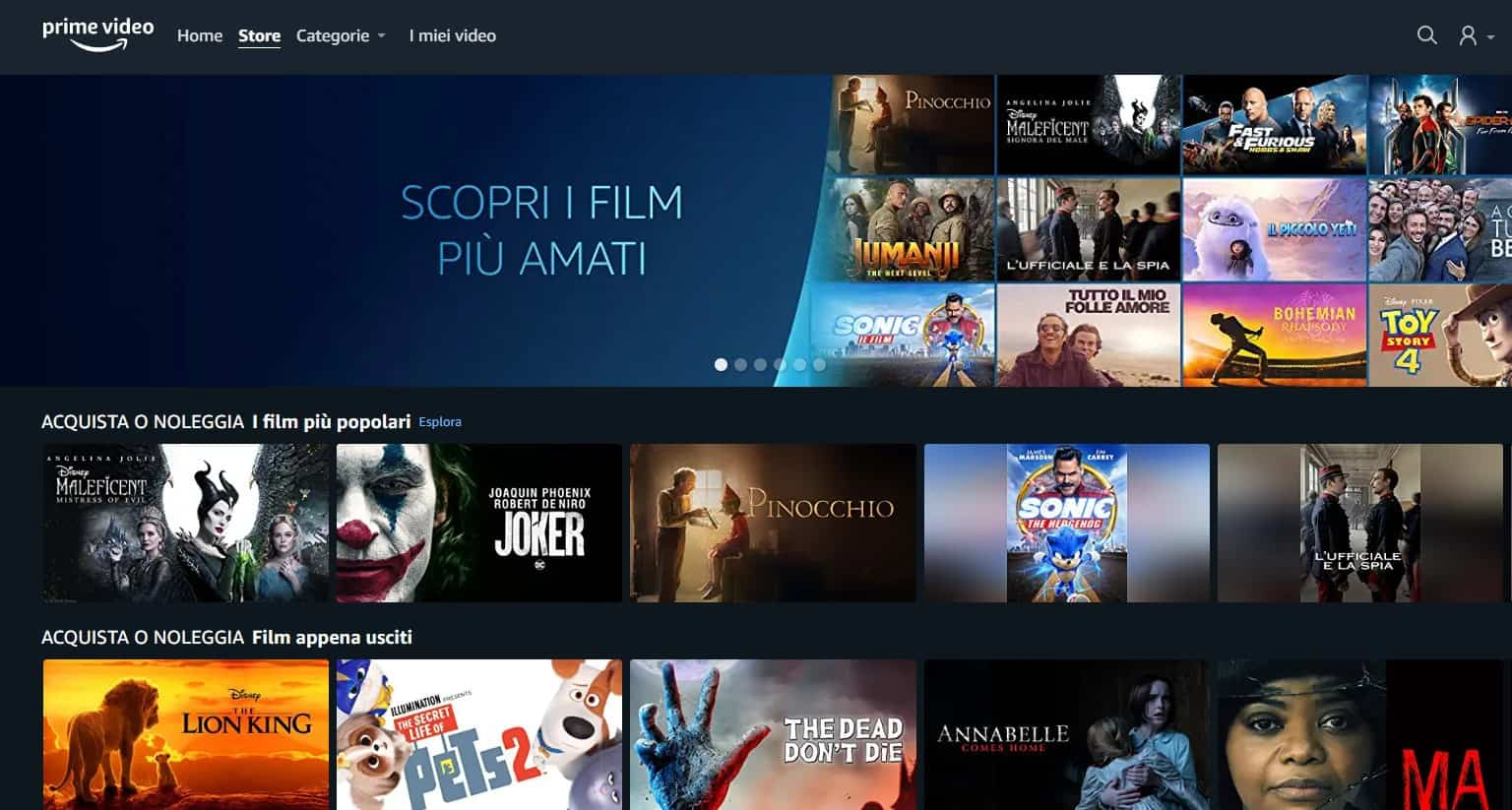 Amazon Prime Video annuncia arrivo del Prime Video Store in Italia