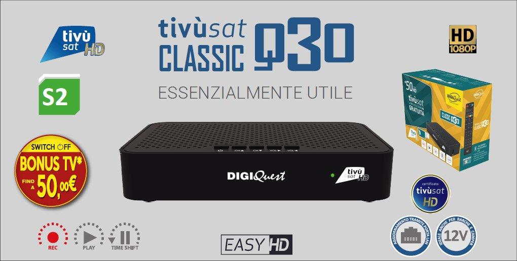 Ricevitore Digiquest Tivùsat Classic Q30