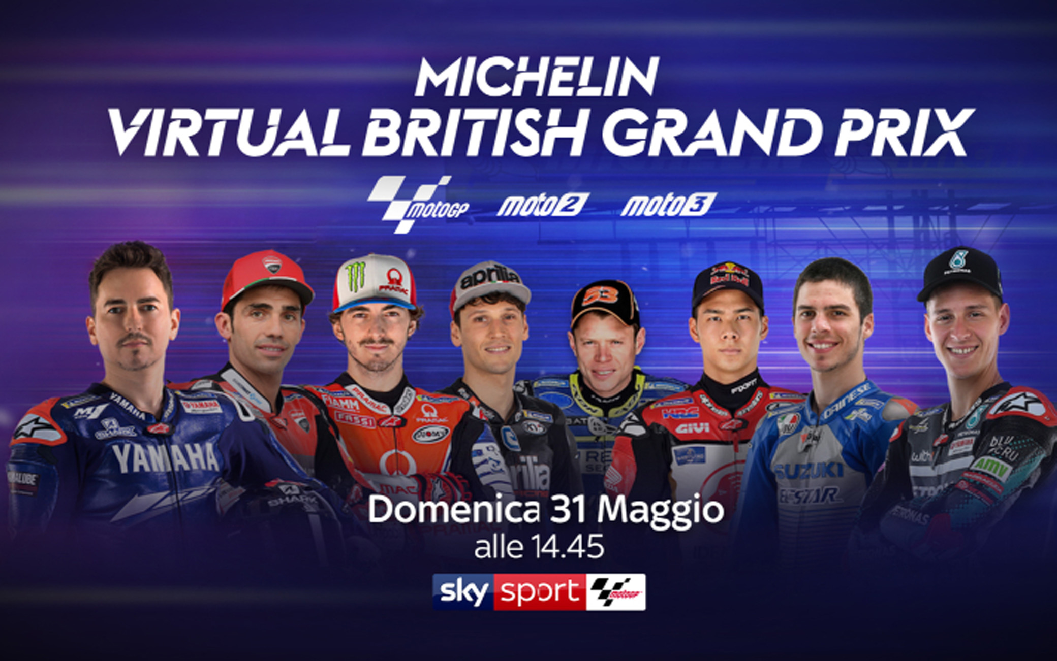 Domenica in diretta Sky Sport, con la Bundesliga, Virtual MotoGP Silverstone