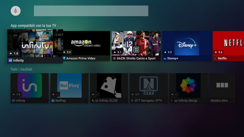 TS UP 4K, aggiornamento software porta nuove app di streaming video