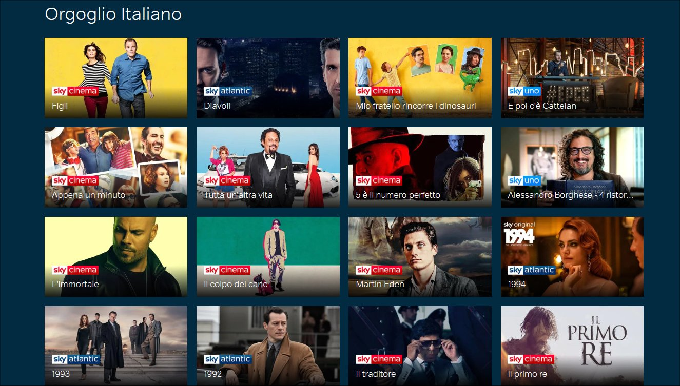 NOW TV continua la sua evoluzione e riparte con Orgoglio Italiano