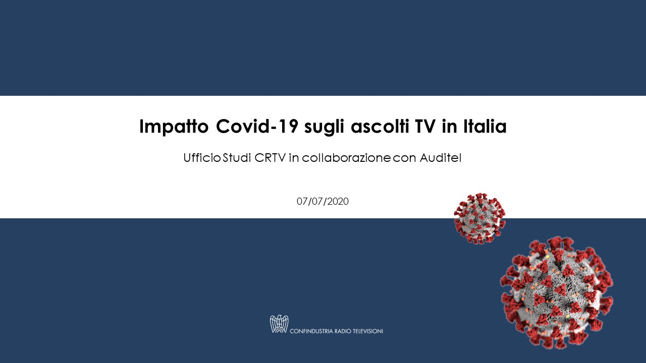 TV Nazionali durante lockdown, impatto Covid-19 sugli ascolti (CRTV)