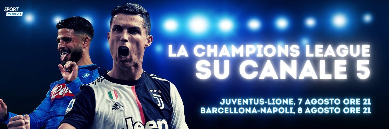 Champions Ottavi di Finale, su Canale 5 Juventus-Lione e Barcellona-Napoli