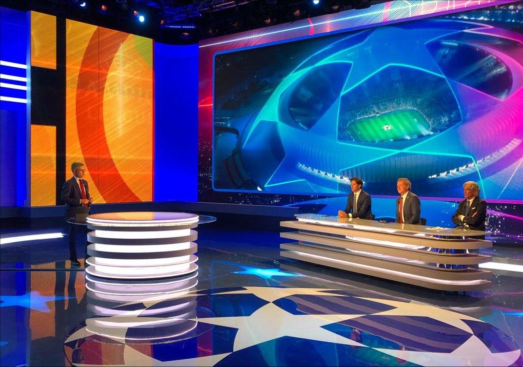 Canale 5, Champions, Diretta Lione - Bayern Monaco, Telecronisti Sport Mediaset
