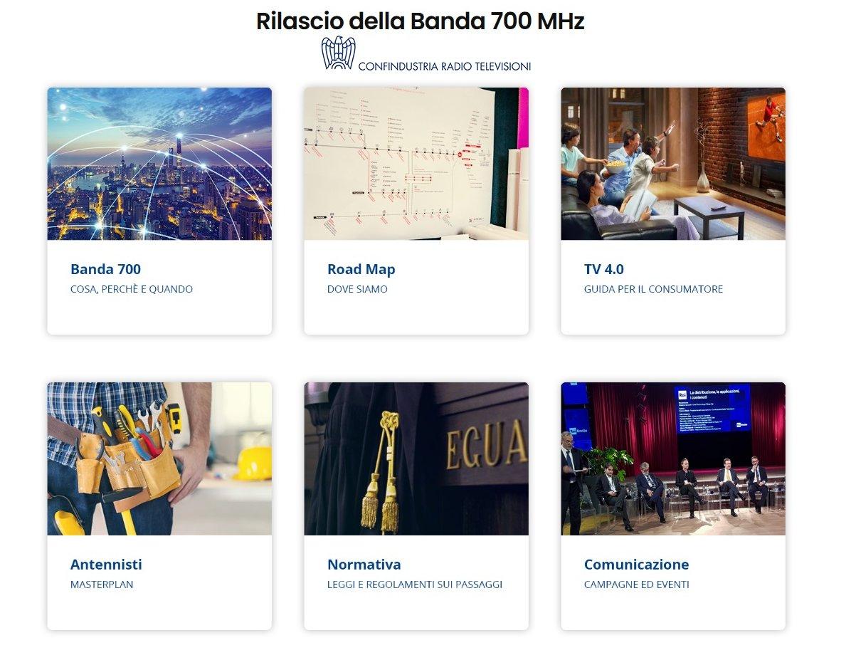 Rilascio banda 700, si riparte: comunicazione nazionale e sito CRTV