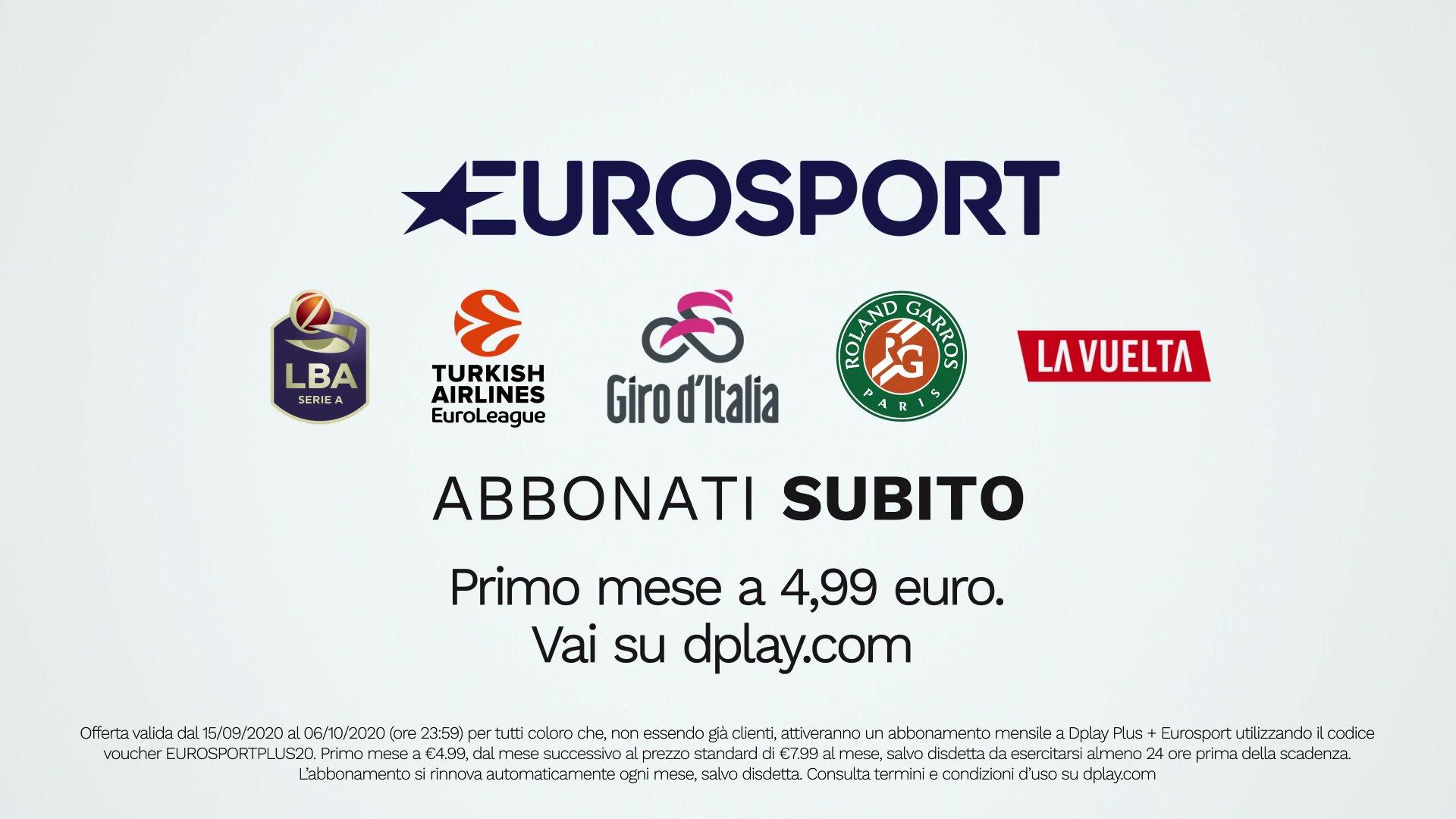 I canali Eurosport debuttano su Dplay PLUS