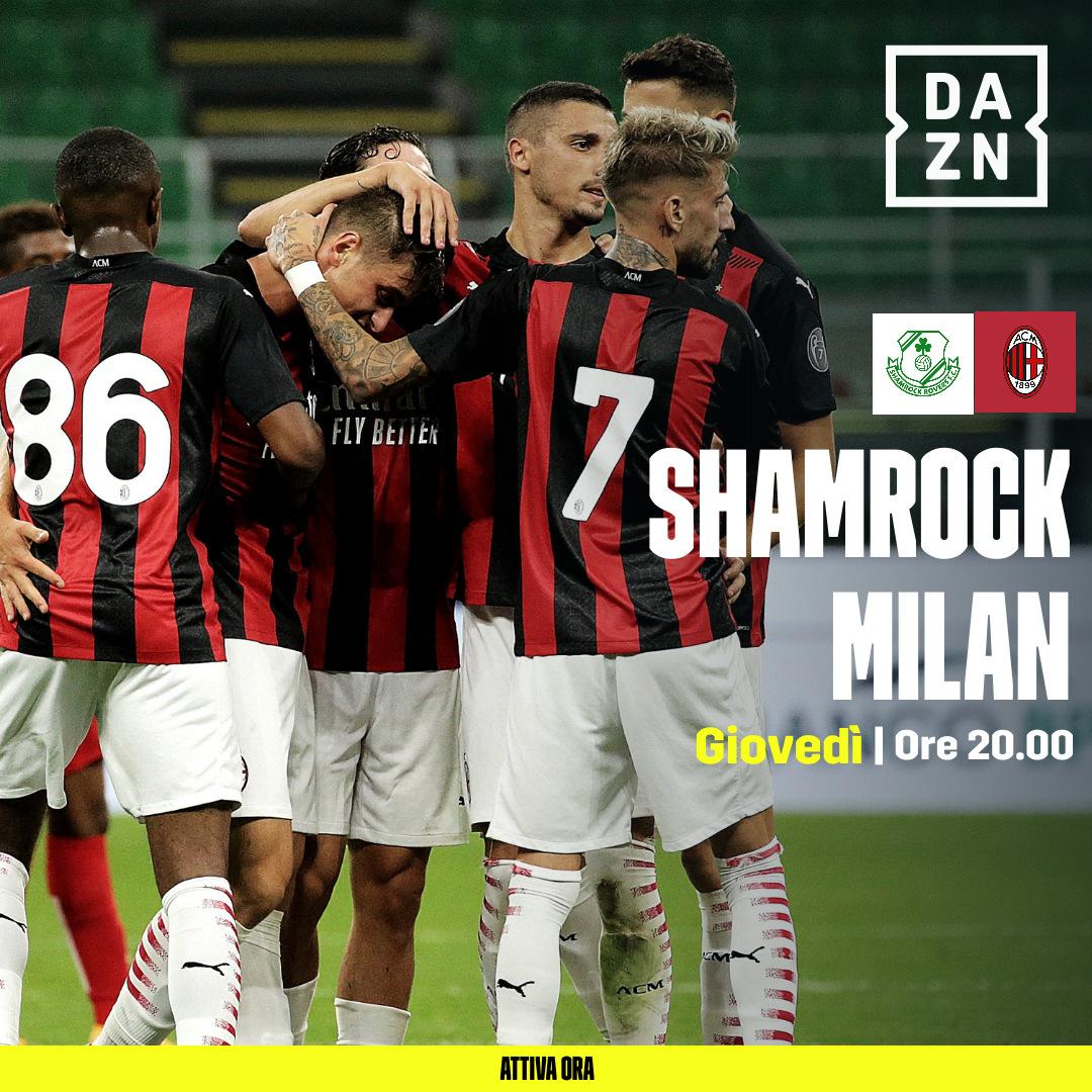 Europa League Secondo Preliminare, Shamrock Rovers v Milan, Diretta DAZN