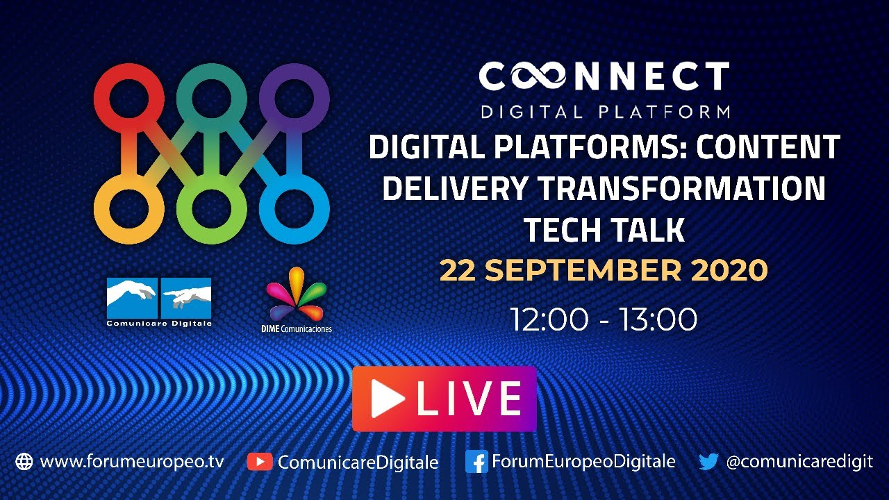 LIVE | Content Delivery Transformation Tech Talk. Diretta streaming Digital-News.it