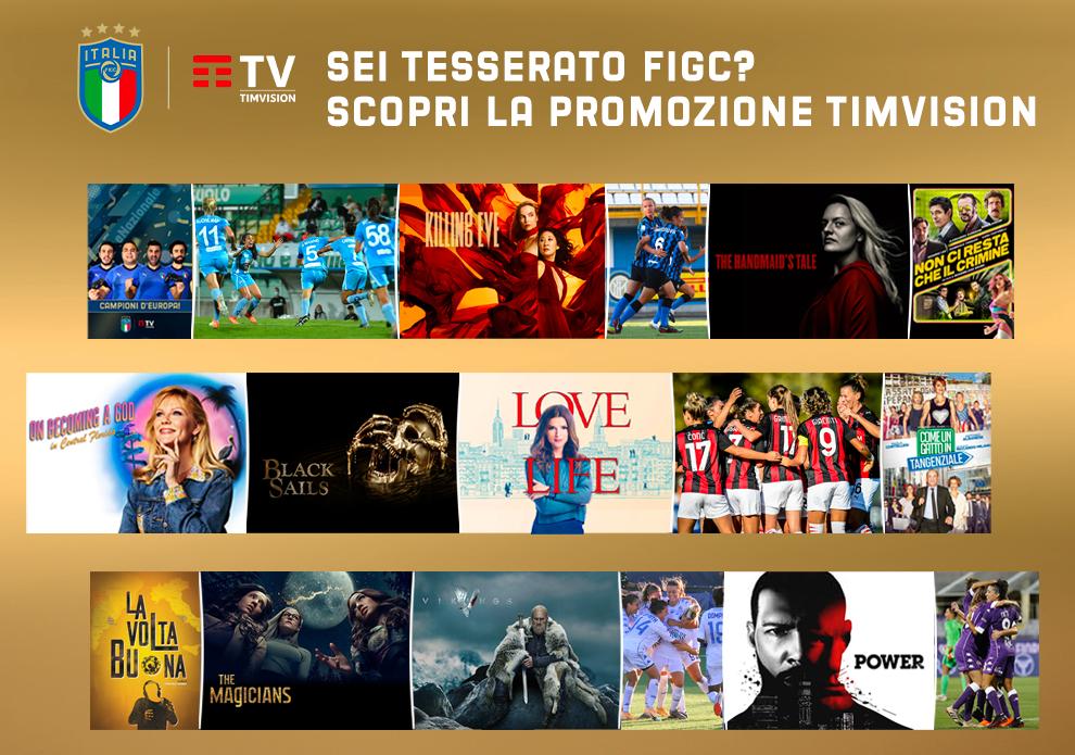 TIMVISION offre sei mesi di promozione a tutti i tesserati FIGC