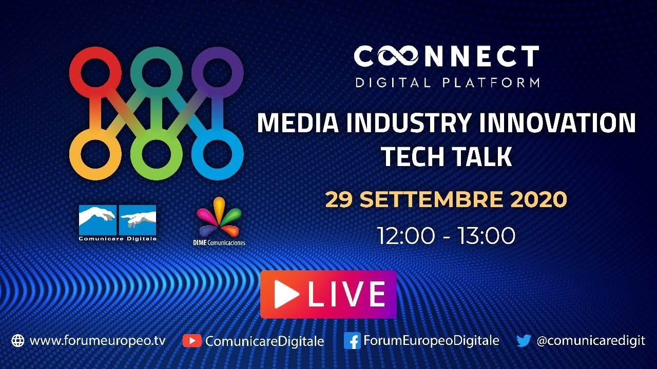 LIVE - Media Industry Innovation Tech Talk. Diretta streaming Digital-News.it