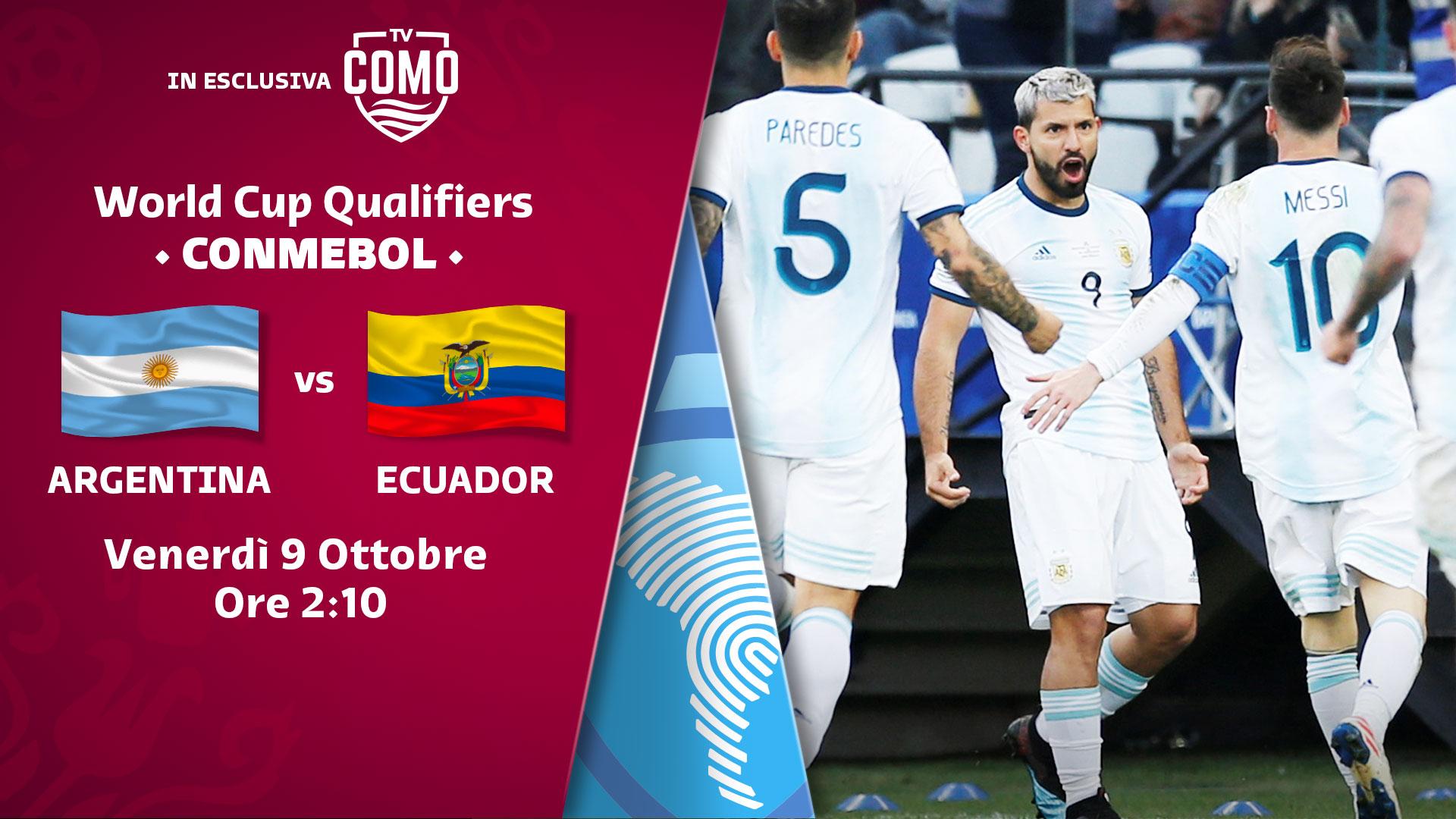 Como Tv acquisisce i diritti italiani per le qualificazioni ai mondiali del Sudamerica.
