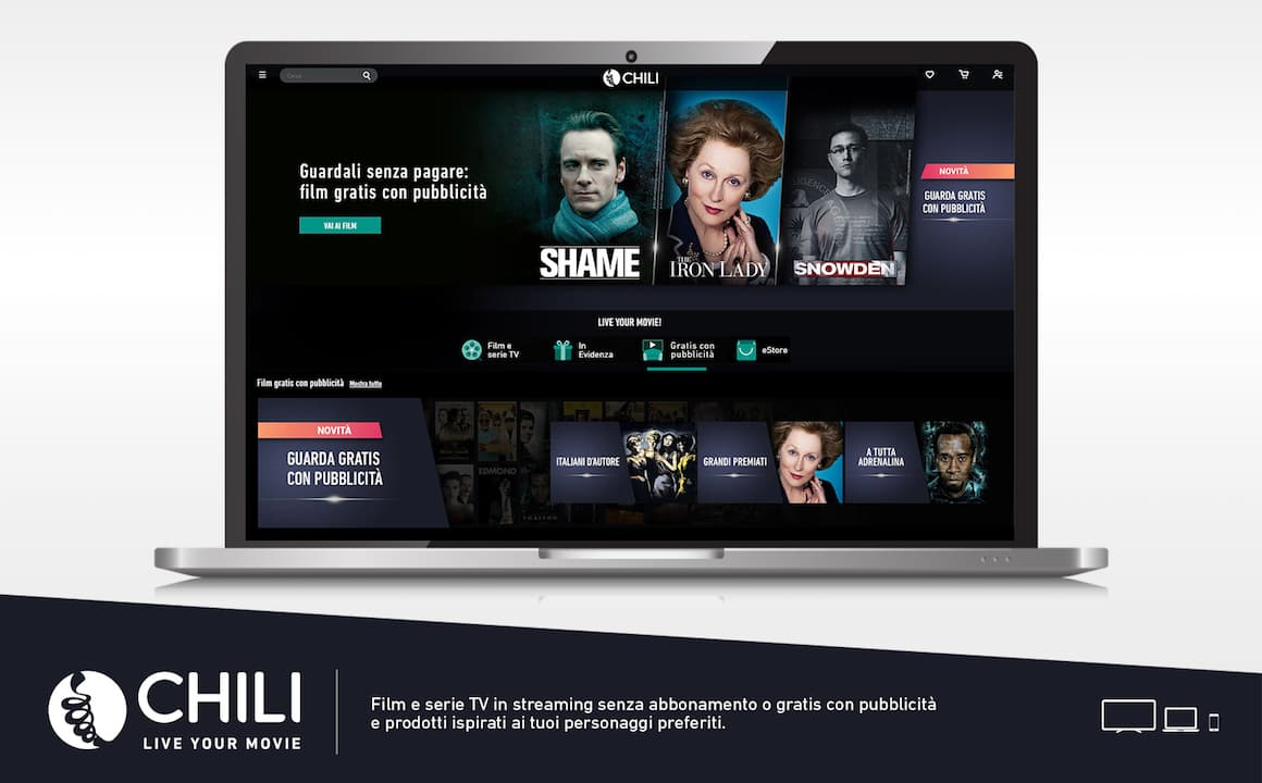 CHILI lancia il servizio Advertising-based Video on demand (AVOD)