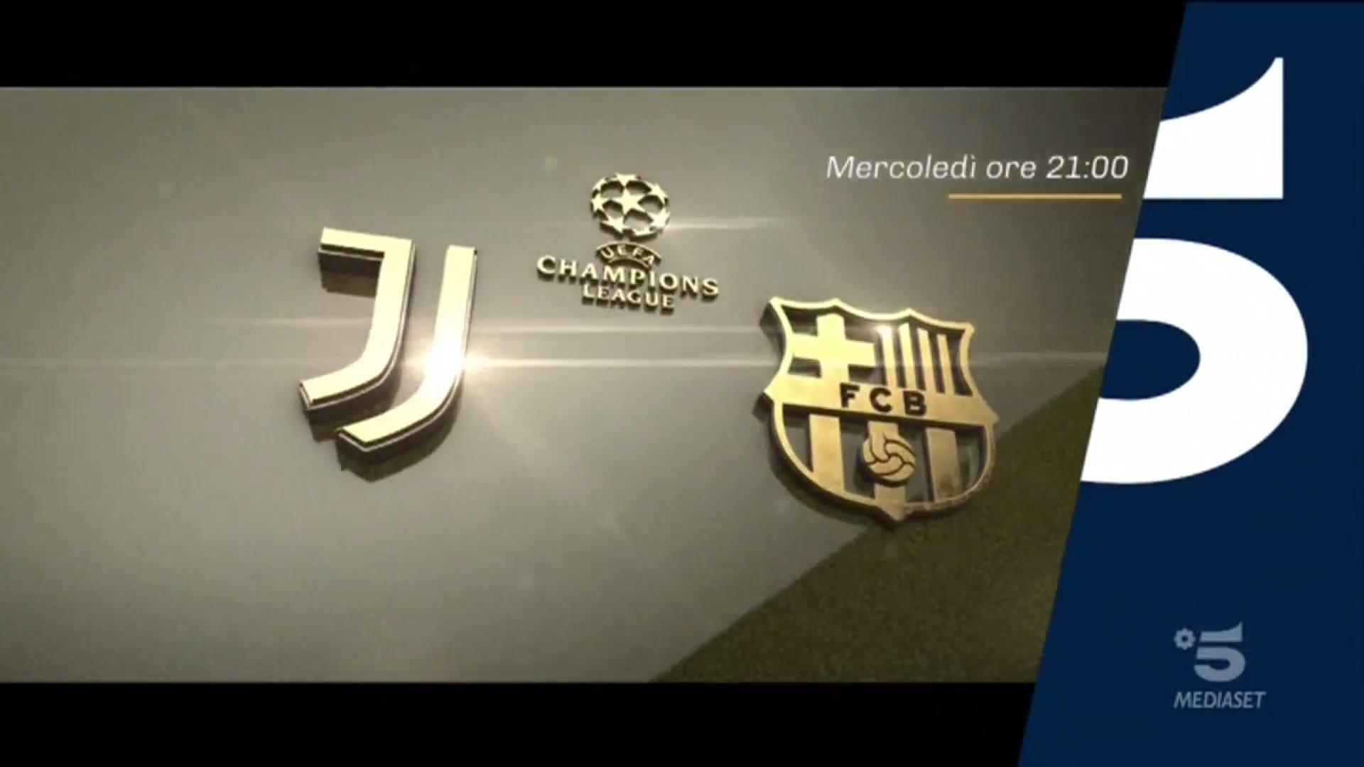 champions juventus barcellona diretta canale 5 telecronisti sport mediaset digital news barcellona diretta canale 5