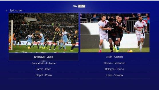 Sempre più ricca app Live Calcio di Sky Sport per i clienti Sky Q