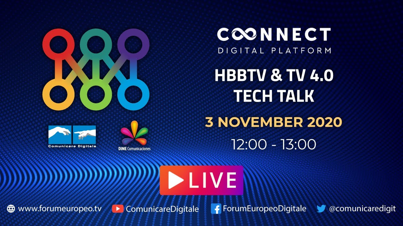 LIVE   Tech Talk HBBTV & TV 4.0. Diretta streaming Digital-News.it