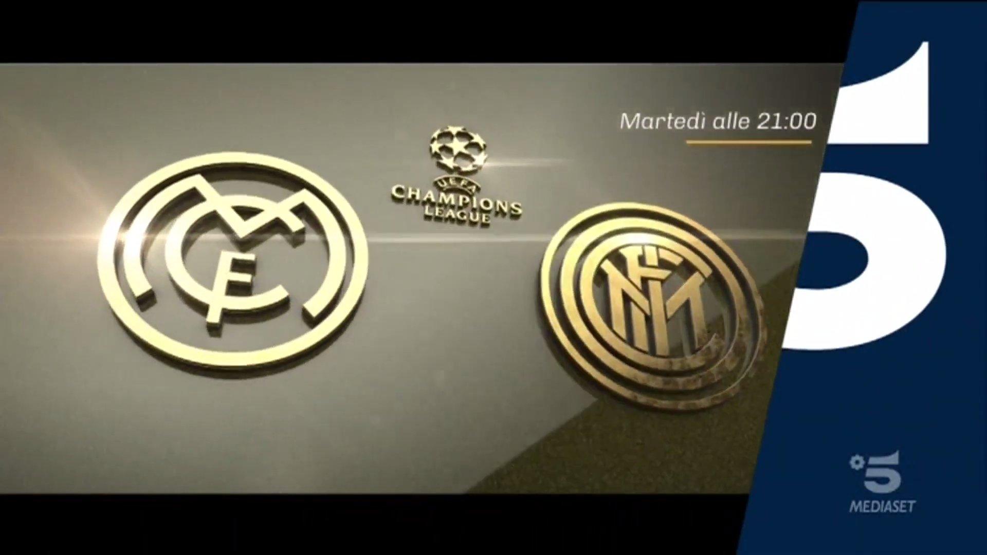 Champions, Real Madrid - Inter Diretta Canale 5, Telecronisti Sport Mediaset