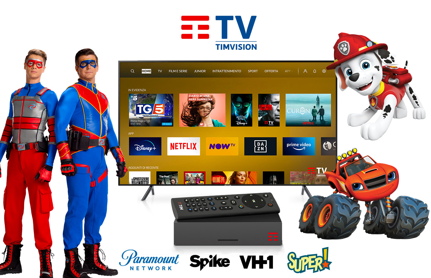 Timvision e ViacomCBS rinnovano accordo, offerta arricchita con canali TV