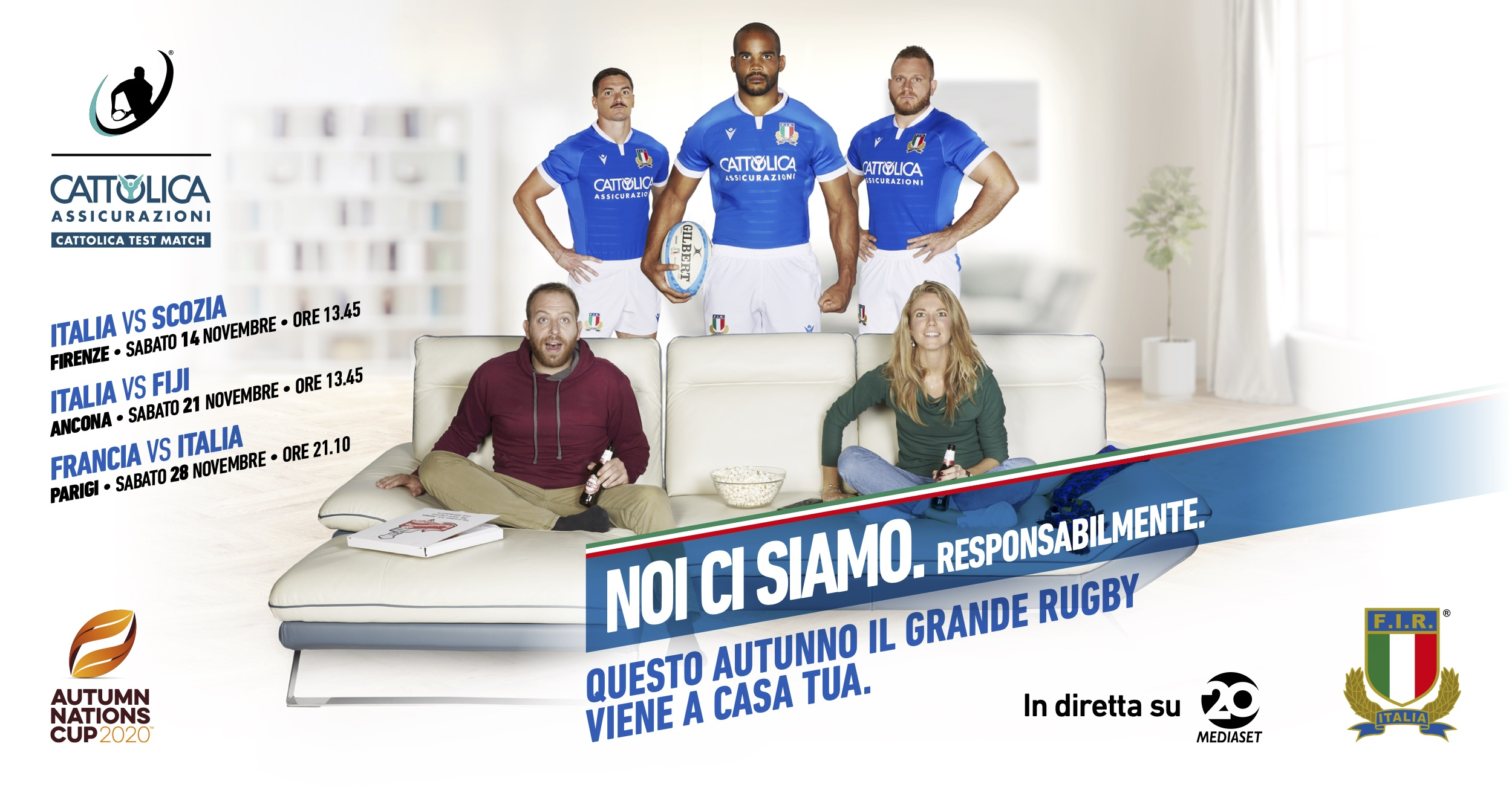Rugby Autumn Nations Cup con gli azzurri (diretta Mediaset Canale 20)