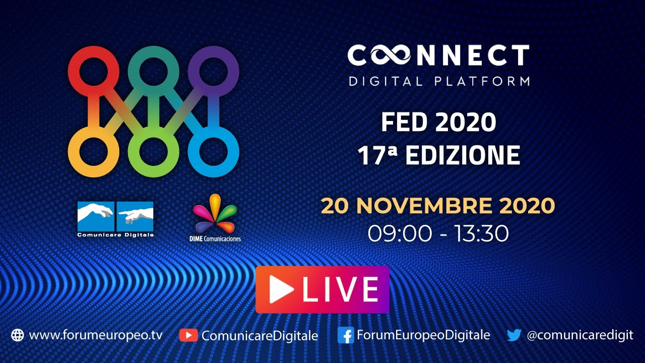 17 Forum Europeo Digitale Lucca 2020 #2 diretta streaming Digital-News.it