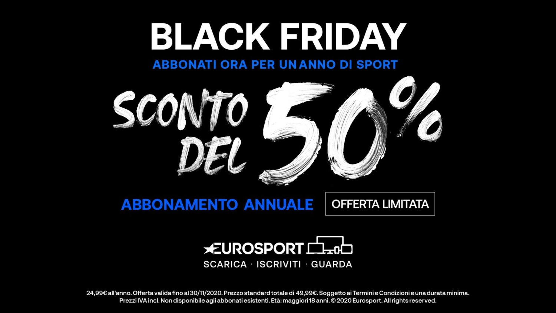 Black Friday 2020 Eurosport Player, 12 mesi di sport a 24,99€